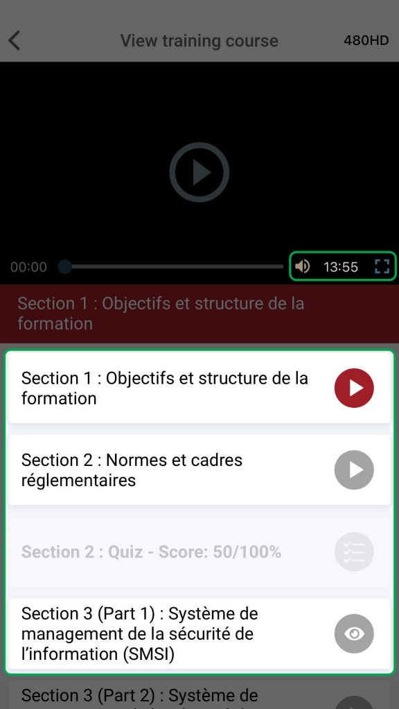 Access the elearning files in KATE IOS